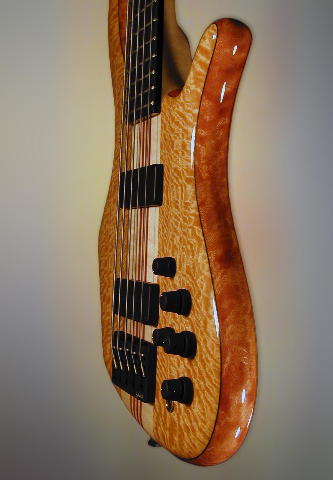 Schack Unique V Muvingue Mahogany Neckthru Side