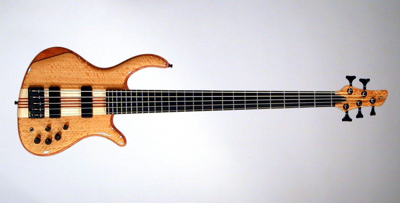 Schack Unique V Muvingue Mahogany Neckthru Body