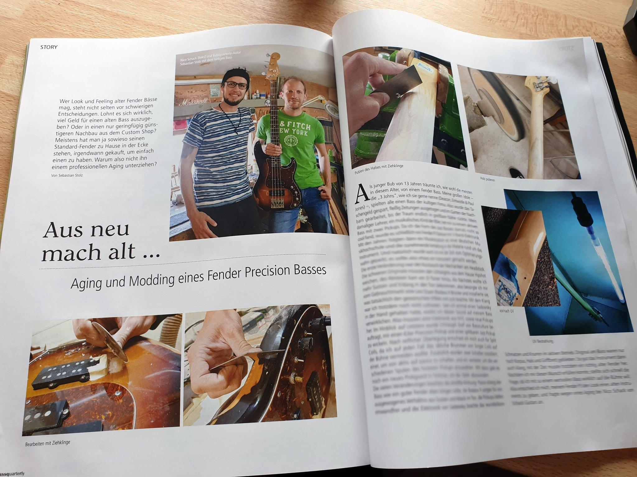 Artikel Bass Aging in Bass Quarterly Fachzeitschrift